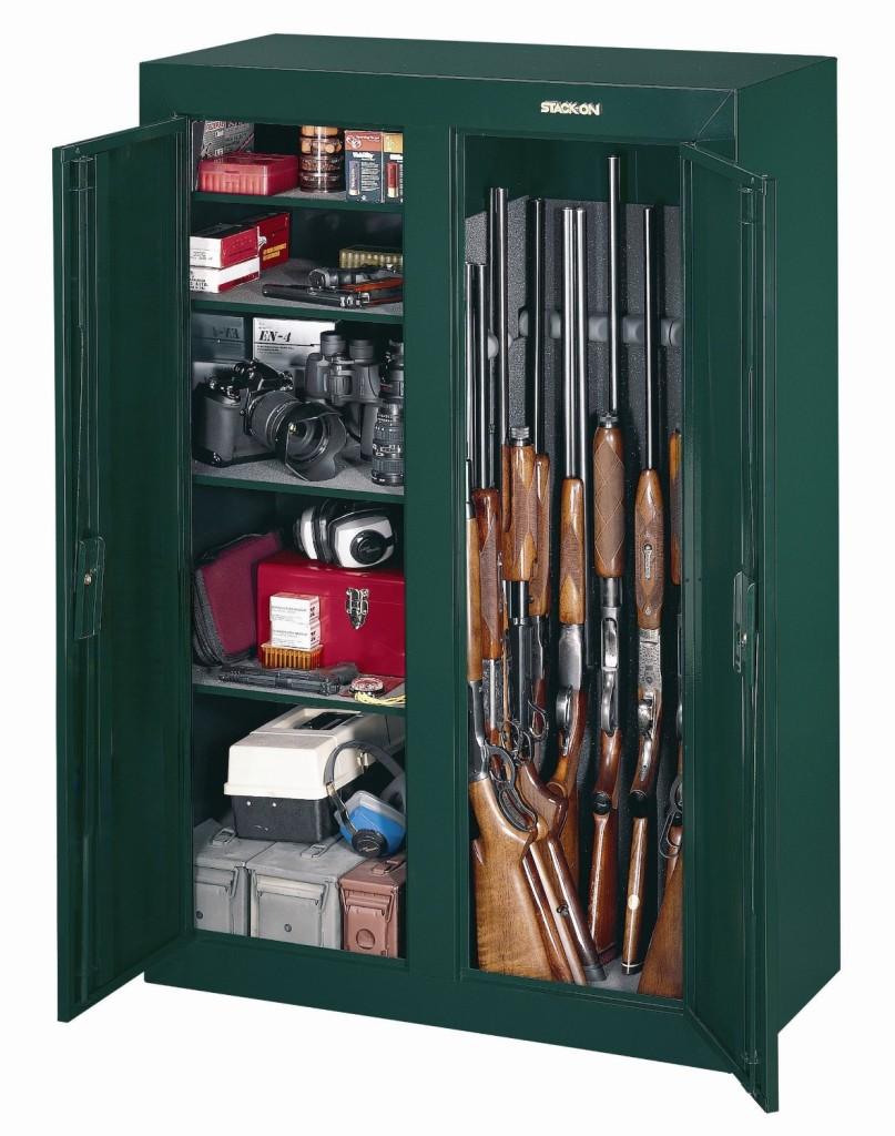 16 gun double door gun safe