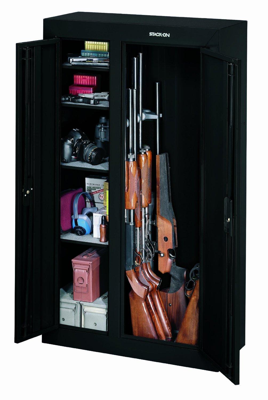 Stack on 10 gun double door gun cabinet